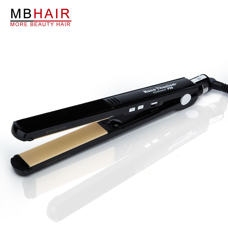 MBHAIR Ceramic Plates Flat iron Black