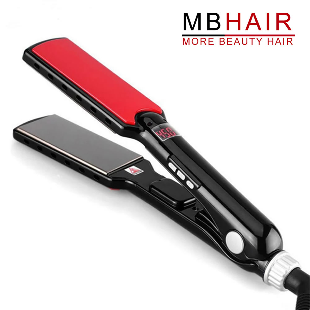 MBHAIR Left-Hand LCD Display Titanium plates Straightener Iron