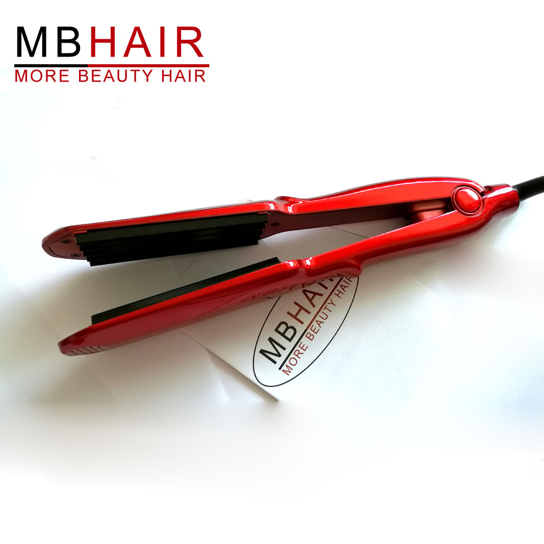 MBHAIR Ceramic Corrugated Wave Flat Iron